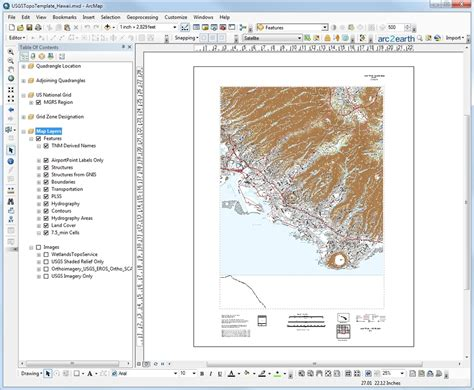 layout arcgis template usgs tnm style map template arcgis open gis lab