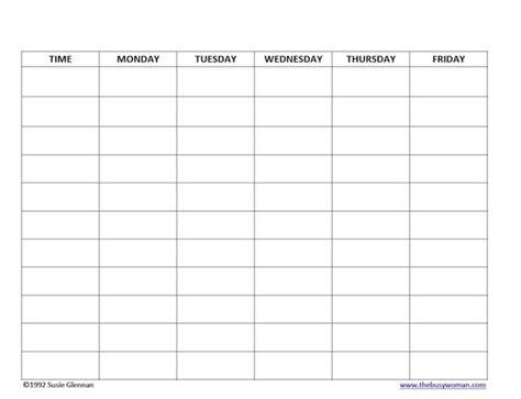blank daily homeschool schedule schedule template free schedule template free