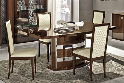 Contemporary Italian Dining Room Furniture Roma Modern Italian Dining Table Collection