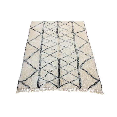 black and white moroccan rug at 1st sight products large vintage moroccan beni ourain rug with black and stripe