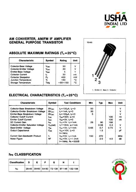transistor c9013 pdf c9011 datasheet pdf usha