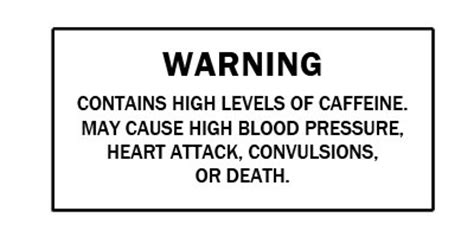 energy drink warning label documents link more deaths to energy drinks center for