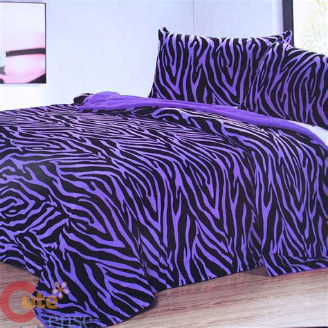 purple zebra bedding purple zebra bedspread blanket 2 pillow cover queen 3pc