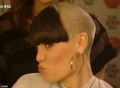 Jessie J shows off a bald head after having her head