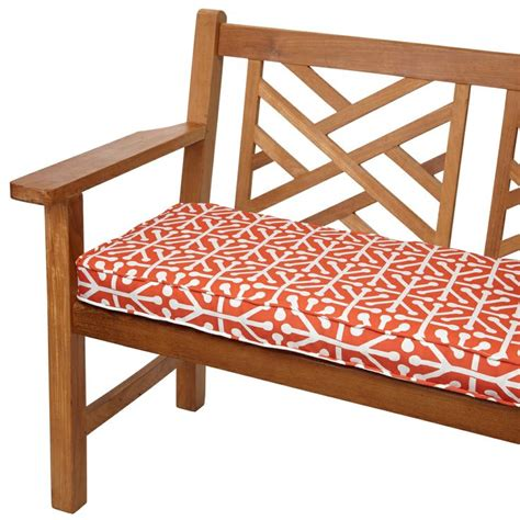 60 inch outdoor bench cushion dossett orange 60 inch indoor outdoor corded bench