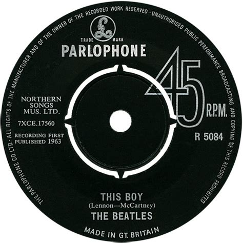 beatles this boy 45cat the beatles i want to hold your this boy