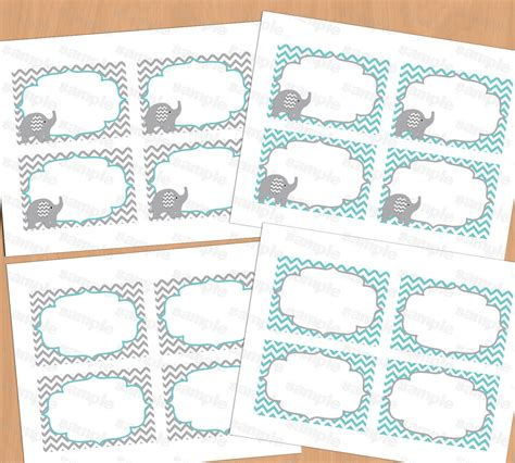 baby shower place cards template printable baby shower food labels place card blank place