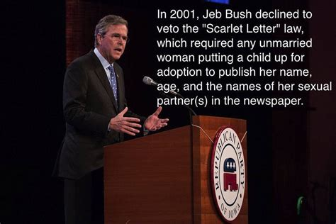 Scarlet Letter Jeb Bush What The Gop Presidential Candidates Think About