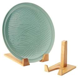 bamboo plate stands the container store