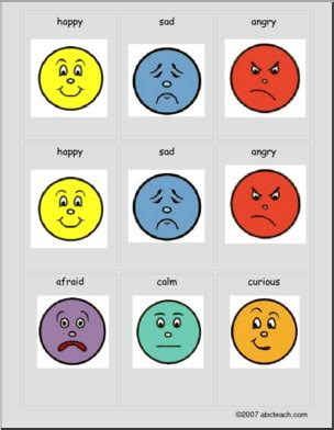 emotions cards from teacher treasures mary s freebie page card game eight emotions esl play quot go fish quot or