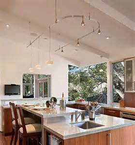kitchen lighting ideas vaulted ceiling monorail in vaulted ceiling kitchen lighting