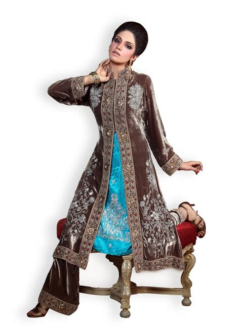 Design Clothes In Pakistan 2015 | latest velvet salwar kameez dresses designs for women 2015