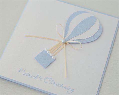 unique invitation card design for christening hot air balloon christening invite christening party