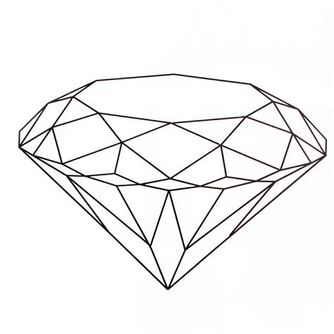 tattoo diamond drawing diamond brilliant diamonds pinterest diamond