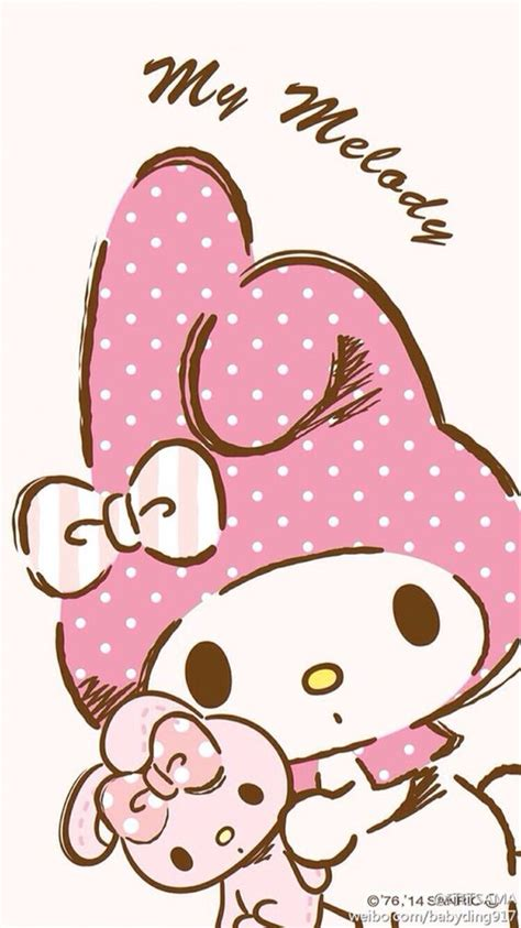 hello kitty wallpaper on we heart it wallpaper kawaii pinterest my melody pink and phones