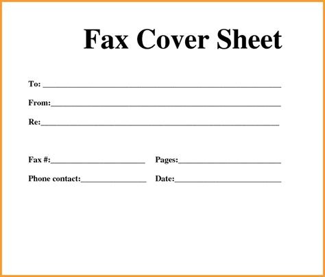 free printable standard fax cover sheet printable fax template website resume cover letter