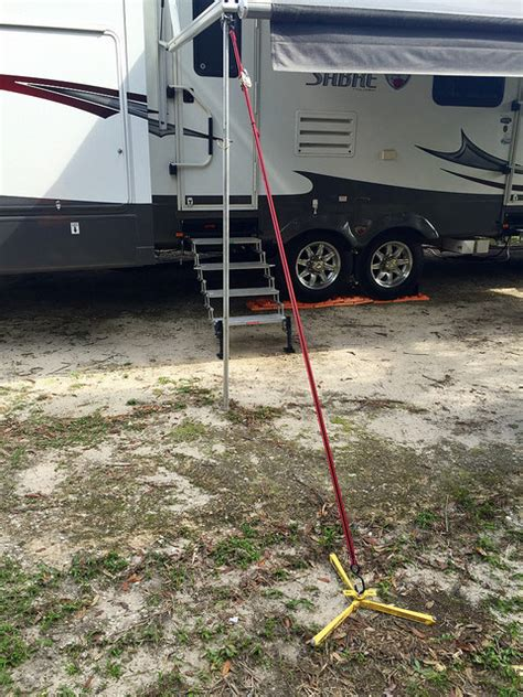 awning pole power awnings are nice but they re weaklings learn to rv