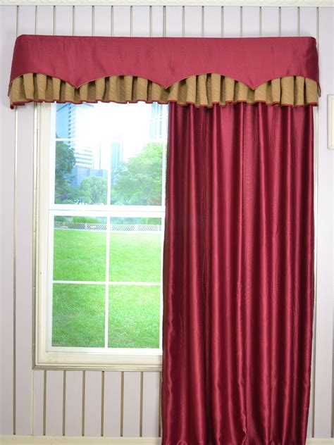 Curtain Box Valance Swan Geometric Two Layered Wave And Box Pleat Valance And