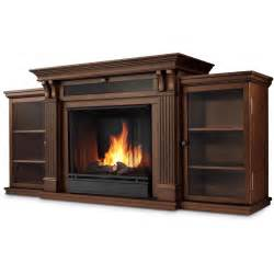 Real flame ashley 67 inch electric fireplace media console dark