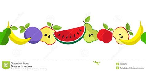 fruit up lines printtasty fruit pattern in line stock vector