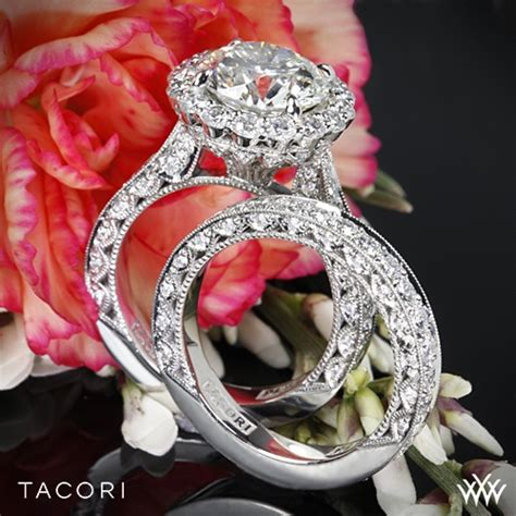 tacori royalt eternity bloom wedding set 3386