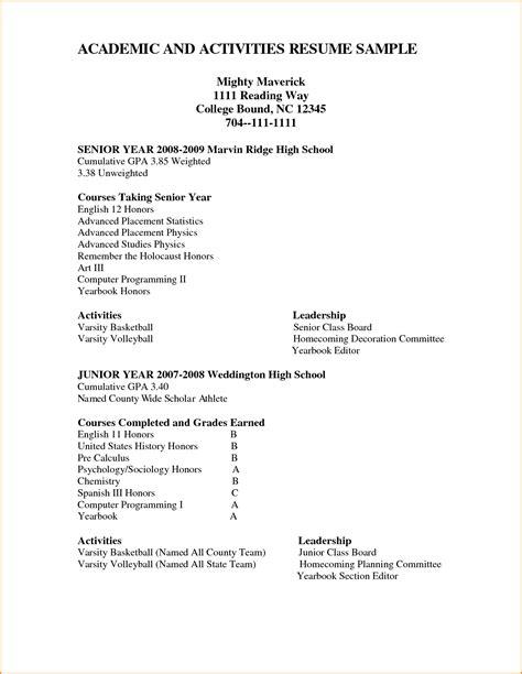High School Academic Resume by 12 High School Academic Resume Invoice Template