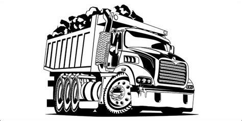 loaded dump truck vector design digitemb