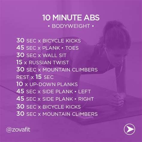 best 10 minute abs workouts to get flat stomach quickly