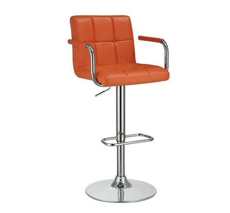 modern bar stools orange modern bar stool co 098 bar stools
