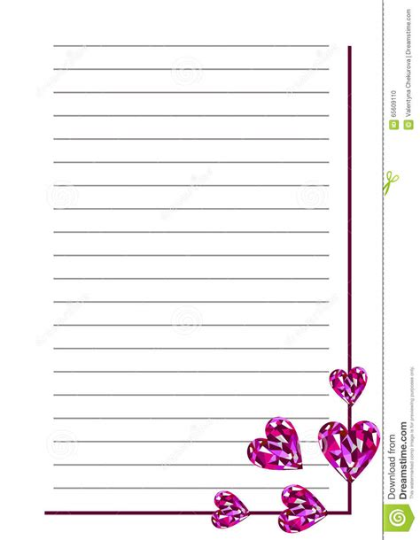 blank card template with lines vector blank for letter or greeting card white paper form