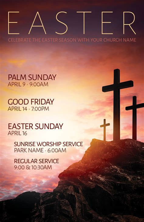 easter crosses hilltop postcard church postcards outreach marketing