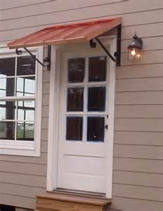 door awnings awning metal door awning