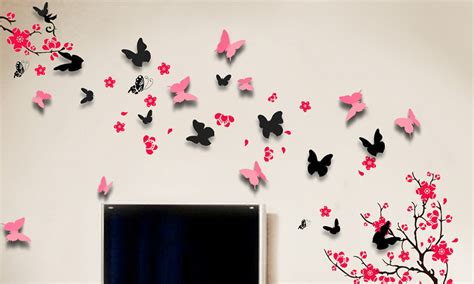 3d Wall Stickers Butterfly removable wall stickers groupon goods
