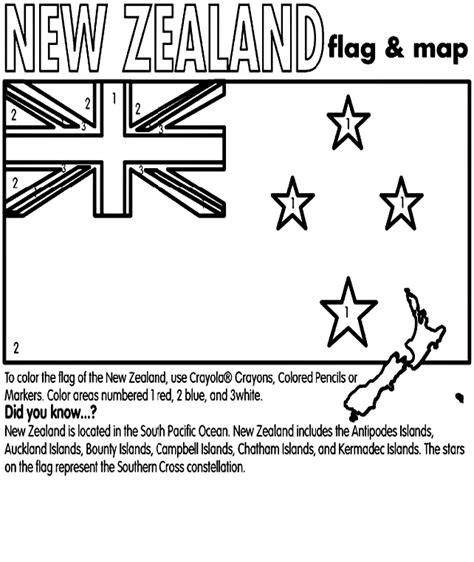 New Zealand Coloring Page Crayola Com New Zealand Flag Coloring Page