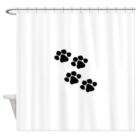 paw print shower curtain pet paw prints shower curtain by bonfiredesigns
