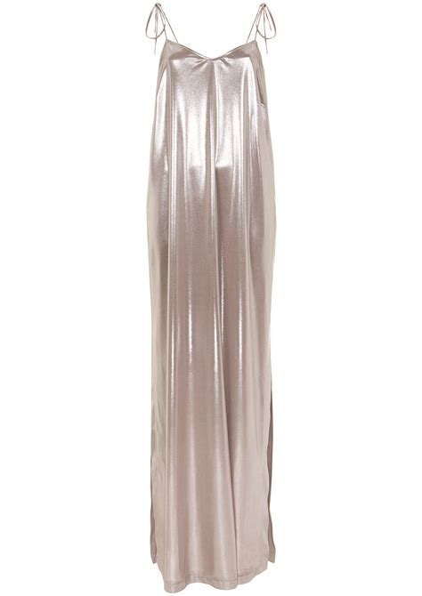Slinky Silver For Autumn Nights Out by You Can Really Play With This Slinky Silver Slip Dress