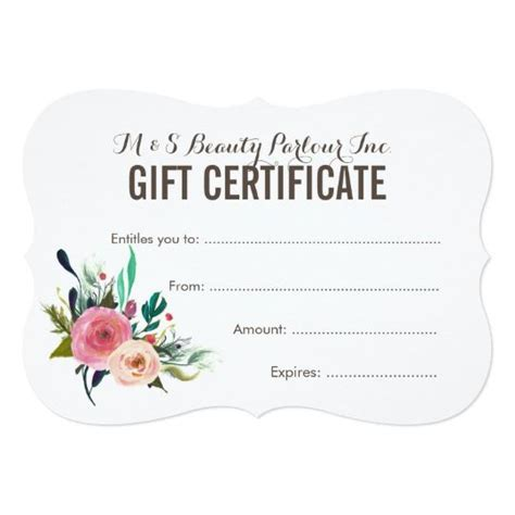 printable spa gift cards 17 best ideas about gift certificate templates on