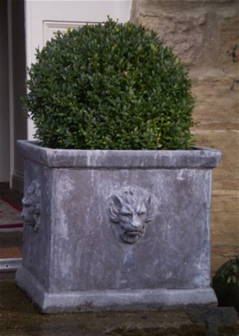 Large Square Lion Planter Large Lead Planters Lead Large Square Planters