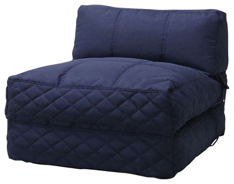 Futon Bean Bag by Bean Bag Chair Bed Blue Sleeper