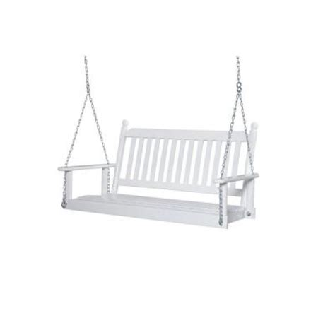 2 person white porch swing 204psw rta the home depot