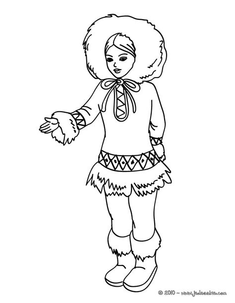 princess world coloring pages coloriages princesse inuit kawai fr hellokids
