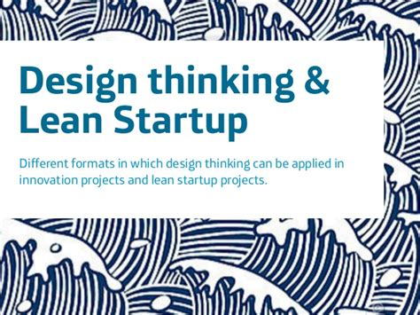 design thinking vs lean startup design thinking lean startup