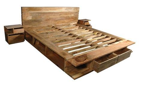 letto in legno naturale letto etnico matrimoniale in legno naturale con cassettoni