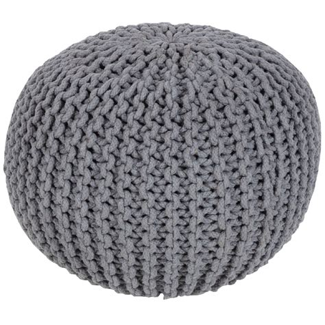 cable knit pouf malmo cable knit pouf in gray by surya rosenberryrooms