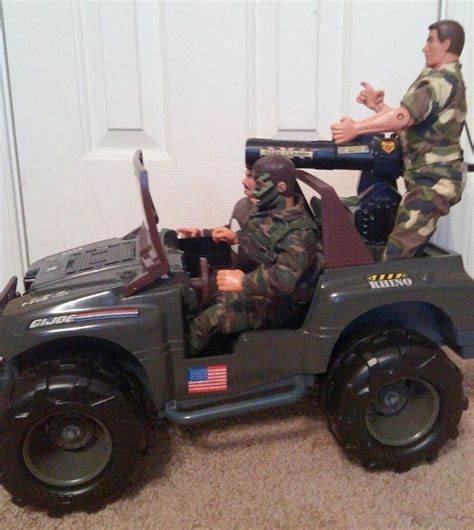 Joe Jeep Gi Joe Lot Includes Rhino Jeep 1 16 3 Gi Joe
