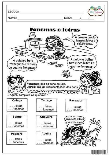 Atividades Sobre Letras E Fonemas
