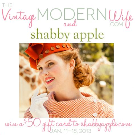shabby apple giveaway the vintage modern wife