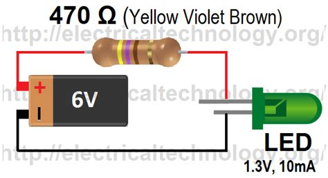 1 watt led resistor calculator how to calculate the value of resistor for led led s circuits