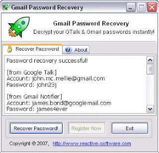Gmail Password Reset Tool | email account hacking software gmail password recovery