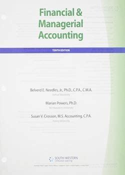 financial and managerial accounting 10th edition needles